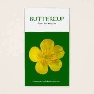 Zwei Ton-Vertikale-Butterblume Visitenkarte