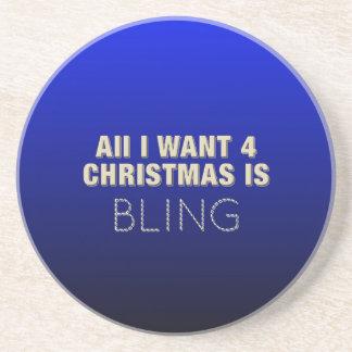 Zwei Ton-Weihnachten Bling Bierdeckel