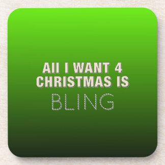 Zwei Ton-Weihnachten Bling Untersetzer
