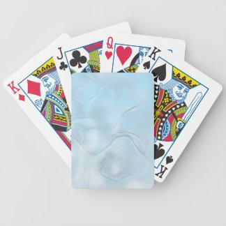 Zwei Tulpe-Blumen-Skizze im Eis-Blau Bicycle Spielkarten