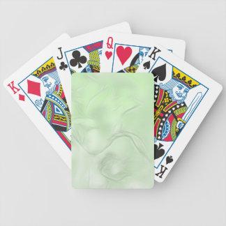 Zwei Tulpe-Blumen-Skizze im Grün Bicycle Spielkarten