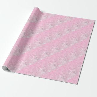 Zwei Tulpe-Blumen-Skizze im Rosa Geschenkpapier