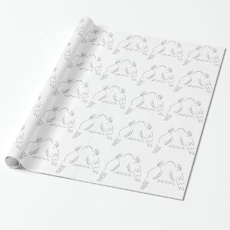 Zwei Vögel Geschenkpapier