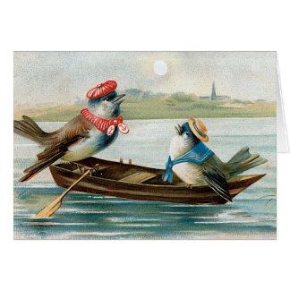 """""""Zwei Vögel in einem Boot """" Karten"""