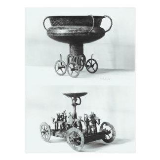 Zwei votive Chariots für das Sammeln des Postkarte
