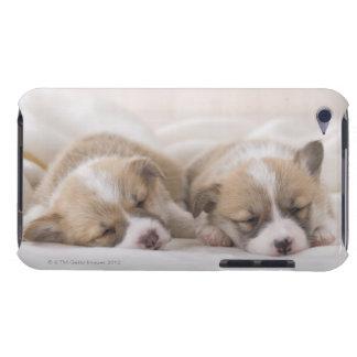 Zwei Waliser Corgi-Schlafen iPod Touch Hülle