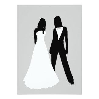 Zwei Wedding Bräute 11,4 X 15,9 Cm Einladungskarte