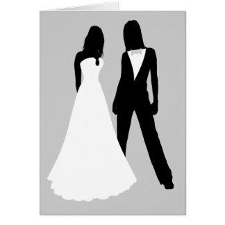 Zwei Wedding Bräute Grußkarte