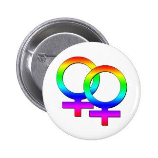 Zwei weiblicher Zeichen-Knopf Runder Button 5,7 Cm