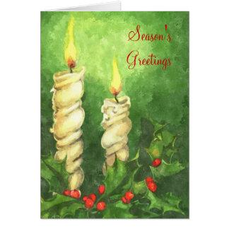 Zwei weiße Kerzen Karte