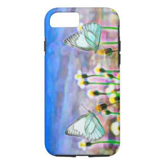 Zwei weiße Schmetterlinge in einer gelben iPhone 8/7 Hülle