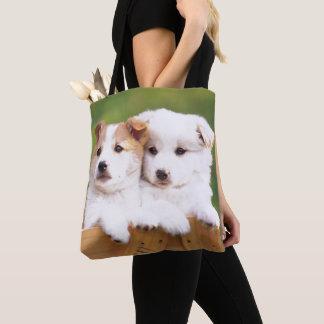 Zwei Welpen Tasche