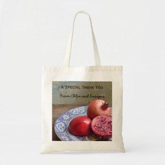 Zwei werden eine Granatapfel-Hochzeits-Tasche Tragetasche