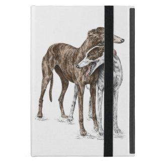 Zwei Windhund-Freund-Hundekunst Schutzhülle Fürs iPad Mini