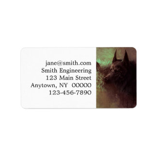 zwei Wölfe - Malereiwolf Adressaufkleber