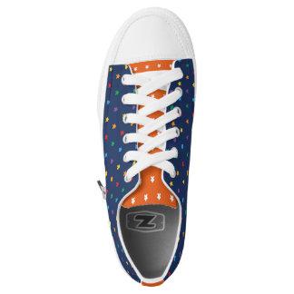 Zwei Zacken Meeple Druck Niedrig-geschnittene Sneaker