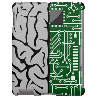 Zweiheit, die High-Techen menschliches Gehirn iPad iPad Hülle
