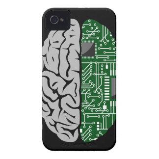 Zweiheit, die High-Techen menschliches Gehirn iPhone 4 Hülle