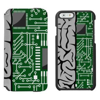 Zweiheit, die High-Teches menschliches Gehirn Incipio Watson™ iPhone 6 Geldbörsen Hülle