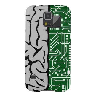 Zweiheit, die High-Teches menschliches Gehirn Samsung S5 Cover