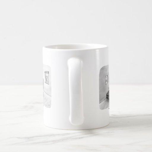 Zweipolige Batterie und Psychologe Tee Tasse