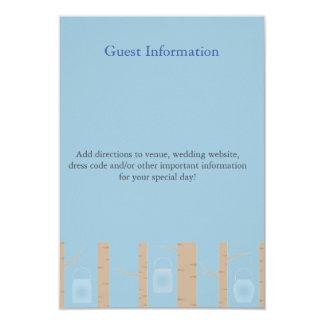 Zweisprachige Waldhochzeits-Einladungs-Gast-Karte Personalisierte Ankündigungen