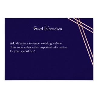 Zweisprachiger Rosen-Goldstreifen, der Guestcard 8,9 X 12,7 Cm Einladungskarte