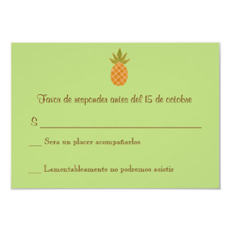 Zweisprachiges Ananas-Hochzeit UAWG 2 mit Seiten Personalisierte Einladungskarte