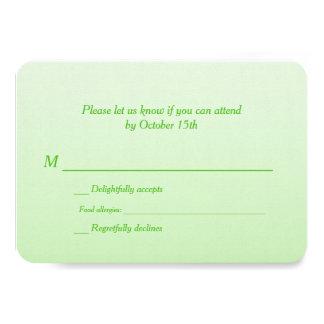 Zweisprachiges grünes Ombre Hochzeit UAWG Individuelle Ankündigskarten