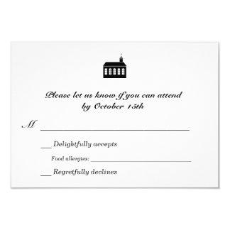 Zweisprachiges klassisches Kapellen-Hochzeit UAWG 8,9 X 12,7 Cm Einladungskarte