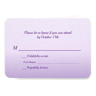 Zweisprachiges lila Ombre Hochzeit UAWG Personalisierte Einladungskarte