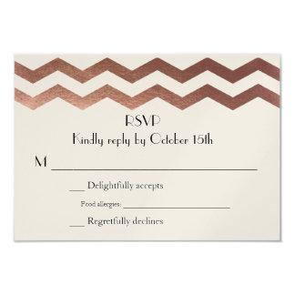 Zweisprachiges Rosen-Gold Zickzack Wedding 8,9 X 12,7 Cm Einladungskarte