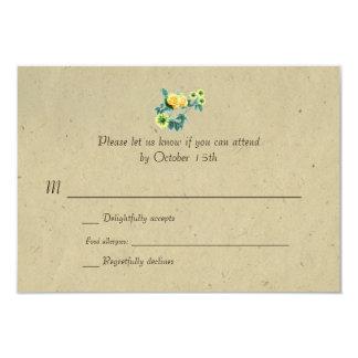 Zweisprachiges rustikales 8,9 x 12,7 cm einladungskarte