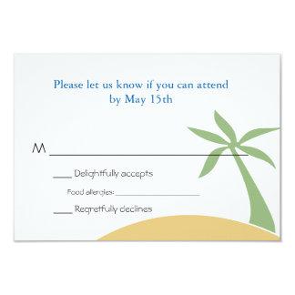 Zweisprachiges Strand-Hochzeit UAWG 8,9 X 12,7 Cm Einladungskarte