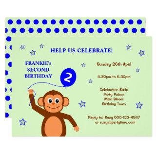 Zweite Geburtstags-Party Einladung des