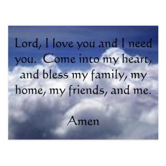 Zweite Postkarte des Gebets-sieben