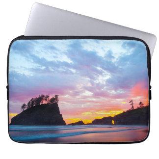 Zweiter Strand am Sonnenuntergang, Washington Laptopschutzhülle
