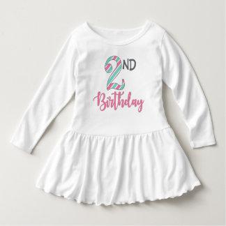 Zweites Geburtstags-Mädchen-langes Kleid