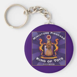 Zwergpinscher, König der Spielwaren Schlüsselanhänger