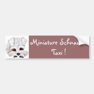 Zwergschnauzer-Taxi! Autoaufkleber