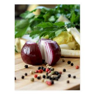 Zwiebel-Küche Postkarten