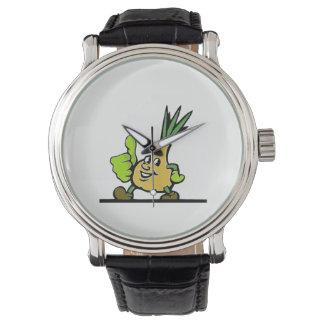 Zwiebel mit den Daumen oben Armbanduhr