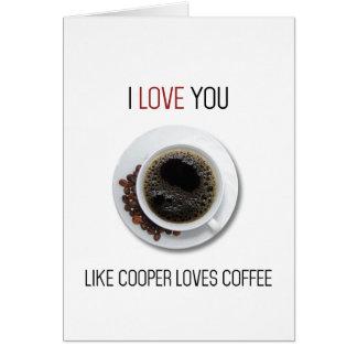 Zwilling ragt Kaffee Valentinstagkarte empor Karte