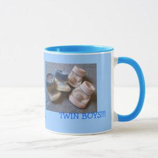 Zwillinge Jungen Tasse