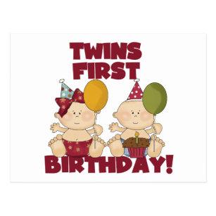 1 Geburtstag Der Zwillinge Geschenke Zazzle De