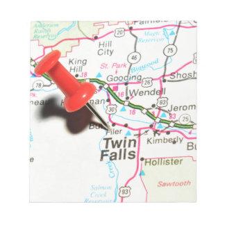Zwillings-Fälle, Idaho Notizblock