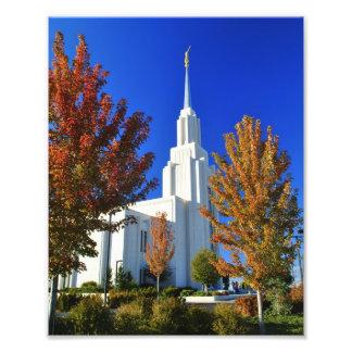 Zwillings-Fälle, Tempel Idahos LDS Fotodruck