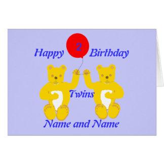 Zwillings-Geburtstags-Jungen-Karte Grußkarte