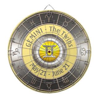 Zwillings-Horoskop-Symbol Dartscheibe