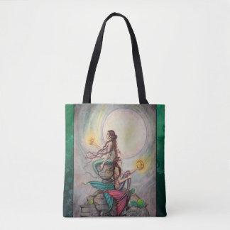 Zwillings-Meerjungfrau-Fantasie-Kunst durch Molly Tasche